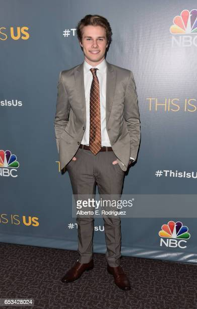 Actor Logan Shroyer attends a screening of the season finale of NBC's 'This Is Us' at The Directors Guild Of America on March 14 2017 in Los Angeles...