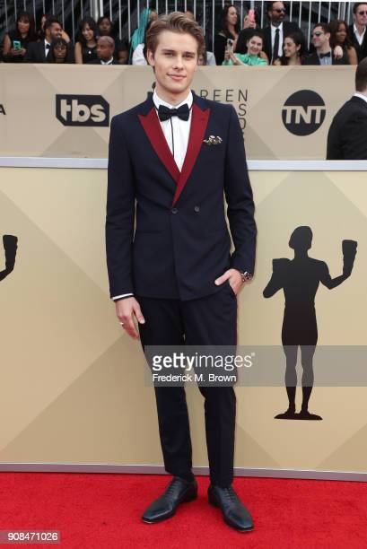 Actor Logan Shroyer attends the 24th Annual Screen Actors Guild Awards at The Shrine Auditorium on January 21 2018 in Los Angeles California 27522_017