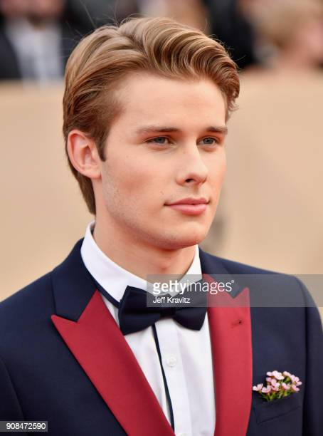 Actor Logan Shroyer attends the 24th Annual Screen ActorsGuild Awards at The Shrine Auditorium on January 21 2018 in Los Angeles California