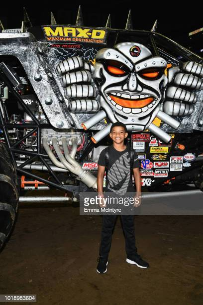 Actor Lonnie Chavis attends Monster Jam at STAPLES Center on Saturday August 18 2018 in Los Angeles CA