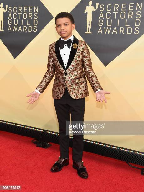 Actor Lonnie Chavis attends the 24th Annual Screen ActorsGuild Awards at The Shrine Auditorium on January 21 2018 in Los Angeles California