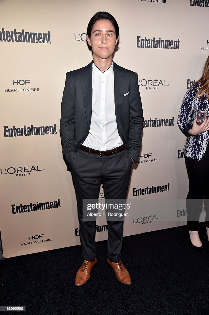 Actor Lorenzo James Henrie attends the 2015 Entertainment Weekly Pre-Emmy Party at Fig & Olive Melrose Place on September 18, 2015 in West Hollywood, California.