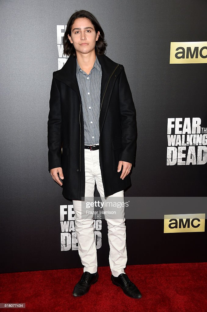Actor Lorenzo James Henrie attends the premiere of AMC's 'Fear The Walking Dead' Season 2 at Cinemark Playa Vista on March 29, 2016 in Los Angeles, California.