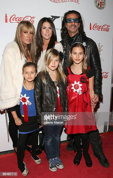 Actor Lorenzo Lamas and Family attend the 2009 Hollywood Christmas Parade on November 29 2009 in Hollywood California