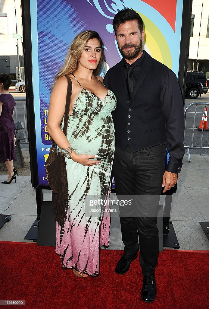Actor Lorenzo Lamas (R) and wife Shawna Craig attend the premiere of 'Love & Mercy' at Samuel Goldwyn Theater on June 2, 2015 in Beverly Hills, California.