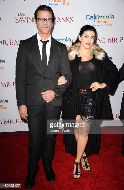 Actor Lorenzo Lamas and wife Shawna Craig attend the premiere of Saving Mr Banks at Walt Disney Studios on December 9 2013 in Burbank California