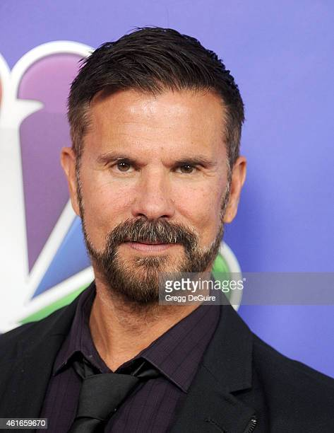 Actor Lorenzo Lamas arrives at day 2 of the NBCUniversal 2015 Press Tour at The Langham Huntington Hotel and Spa on January 16 2015 in Pasadena...