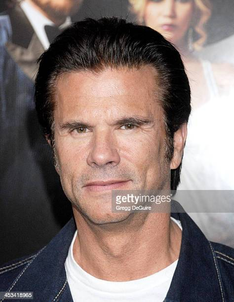 Actor Lorenzo Lamas arrives at the Los Angeles premiere of American Hustle at Directors Guild Theatre on December 3 2013 in West Hollywood California