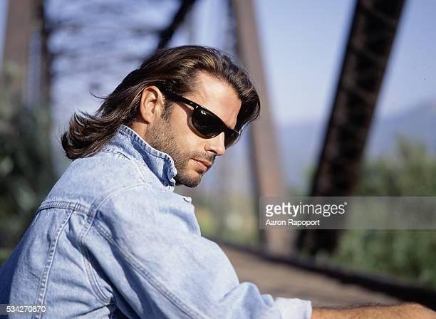 Actor Lorenzo Lamas in Piru California in 1995