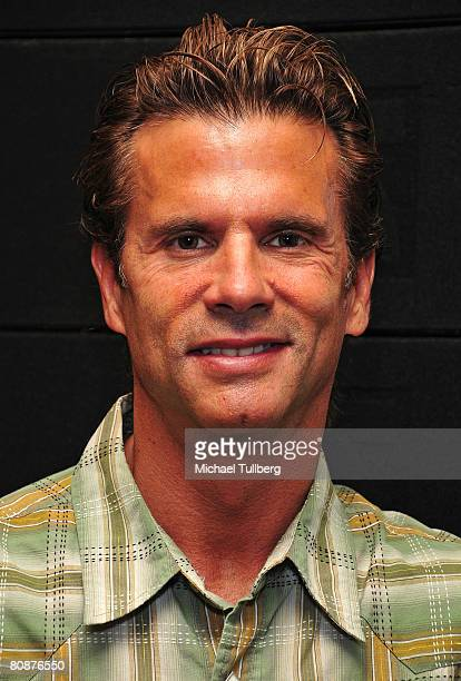 Actor Lorenzo Lamas poses for the camera at William Shatner's 18th Annual Hollywood Charity Horse Show held at the Los Angeles Equestrian Center on...