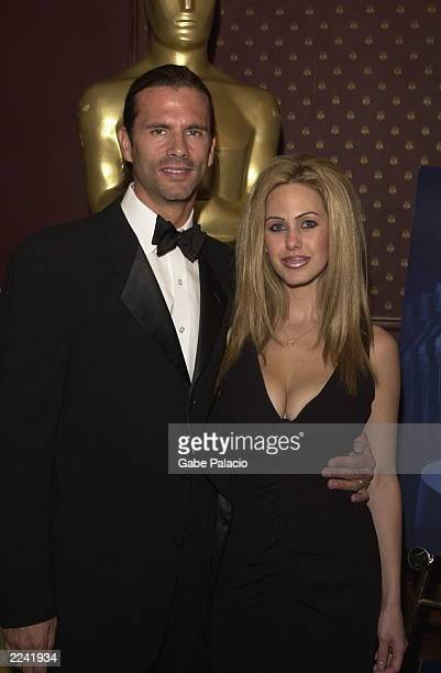 Actor Lorezo Lamas and wife Shauna Sand Lamas at the Academy of Motion Picture Arts and Sciences Official New York Oscar Night Celebration at Le...