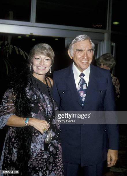 Actor Lorne Greene and wife Nancy Deale attend 16th Annual Humanitarian Awards Dinner on September 17 1979 at the Beverly Hilton Hotel in Beverly...