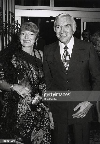 Actor Lorne Greene and wife Nancy Deale attend 16th Annual Humanitarian Awards Dinner Honoring Walter Cronkite on September 17 1979 at the Beverly...