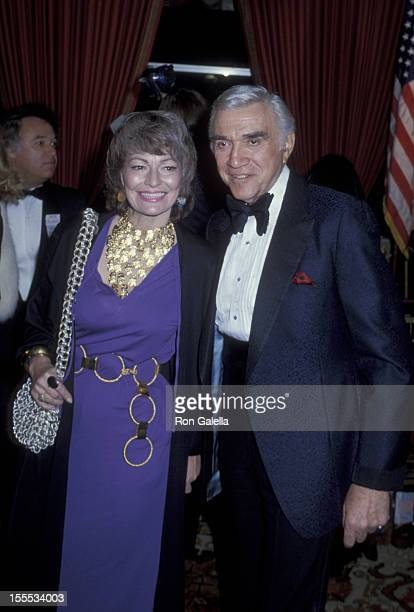 Actor Lorne Greene and wife Nancy Deale attend 36th Annual Golden Globe Awards on January 29 1979 at the Beverly Hilton Hotel in Beverly Hills...