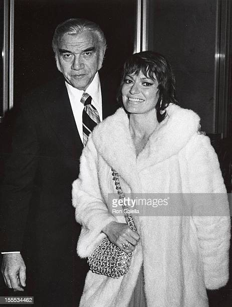Actor Lorne Greene and wife Nancy Deale attend The Sunair Humanitarian Awards Honoring Jack L Warner on January 23 1972 at the Beverly Hilton Hotel...