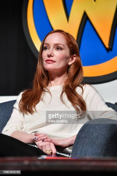 Actor Lotte Verbeek of 'Outlander' attends Wizard World Comic Con at Ernest N Morial Convention Center on January 05 2019 in New Orleans Louisiana