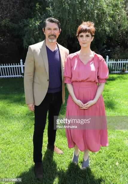 Actor Lou Diamond Phillips and Actress / Director Anne Marie Cummings visit Hallmark's Home Family at Universal Studios Hollywood on April 10 2019 in...