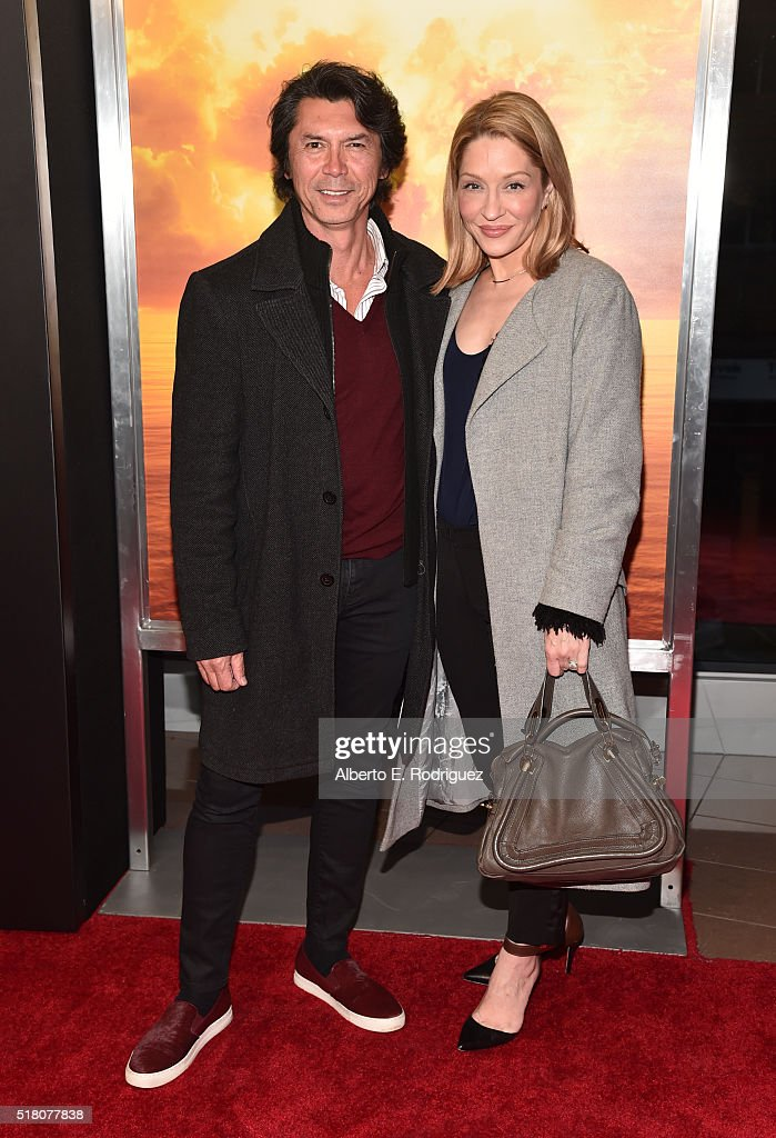 Actor Lou Diamond Phillips and actress Yvonne Boismier Phillips attend the premiere of AMC's 'Fear The Walking Dead' Season 2 at Cinemark Playa Vista on March 29, 2016 in Los Angeles, California.