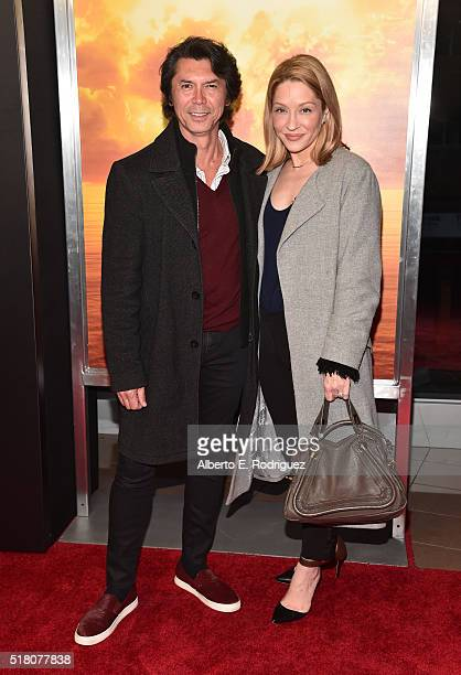 Actor Lou Diamond Phillips and actress Yvonne Boismier Phillips attend the premiere of AMC's Fear The Walking Dead Season 2 at Cinemark Playa Vista...