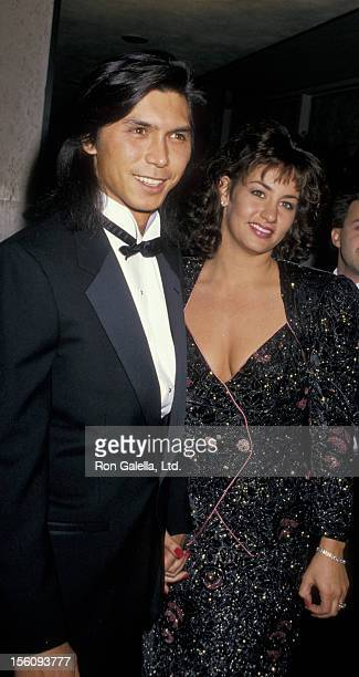 Actor Lou Diamond Phillips and wife Julie Cypher attending 45th Annual Golden Globe Awards on January 23 1988 at the Beverly Hilton Hotel in Beverly...