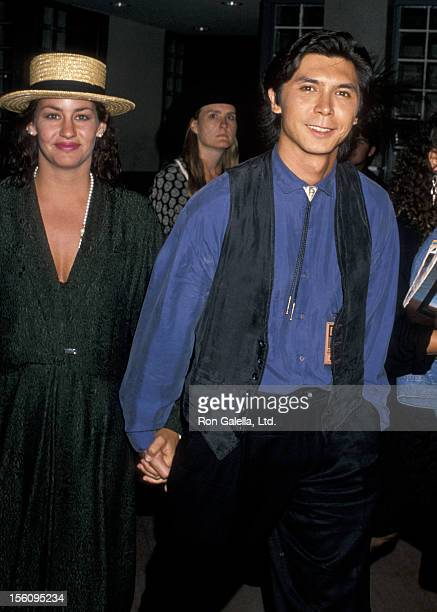 Actor Lou Diamond Phillips and wife Julie Cypher attending Sixth Annual MTV Video Music Awards on September 6 1989 at the Universal Amphitheater in...