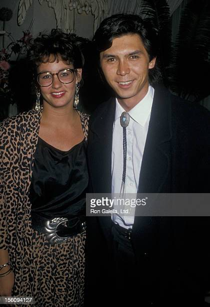 Actor Lou Diamond Phillips and wife Julie Cypher attending the opening night party for 'Sleuth' on July 6 1988 at St James Club in Los Angeles...