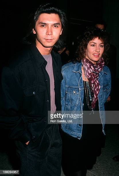 Actor Lou Diamond Phillips and wife Julie Cypher attending the premiere of 'Glory' on December 11 1989 at the Cineplex Odeon Cinema in December 11...
