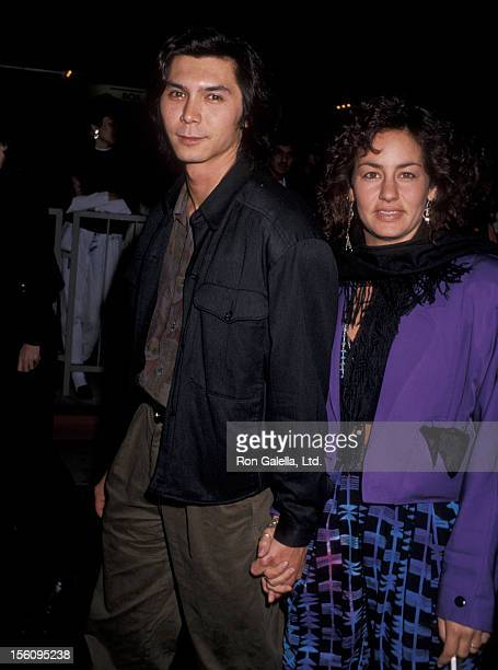 Actor Lou Diamond Phillips and wife Julie Cypher attending the premiere of 'Back to the Future 2' on November 20 1989 at the Cineplex Odeon Cinema in...