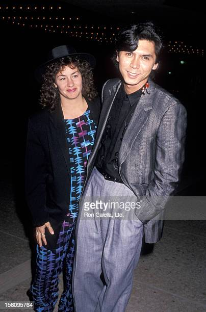 Actor Lou Diamond Phillips and wife Julie Cypher attending the premiere of 'Winter People' on April 13 1989 at the Cineplex Odeon Cinema in Century...