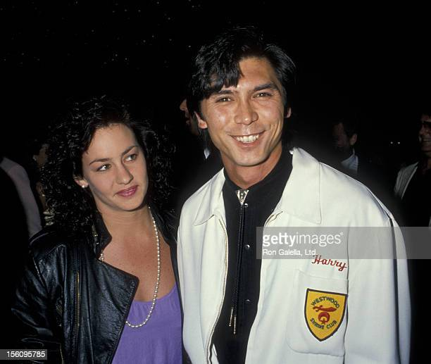 Actor Lou Diamond Phillips and wife Julie Cypher attending the premiere of 'Great Balls of Fire' on June 29 1989 at the Director's Guild Theater in...