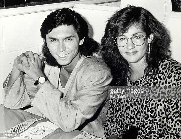 Actor Lou Diamond Phillips and wife Julie Cypher attending the preview party for 'La Bamba' on July 23 1987 at Lucy's Surfeteria in New York City New...