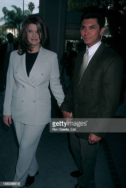 Actor Lou Diamond Phillips and wife Kelly Preston attending Fourth Annual Women in Hollywood Luncheon on January 8 1998 at the Four Seasons Hotel in...