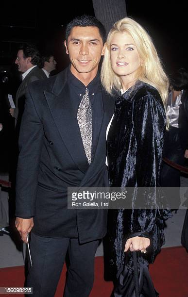 Actor Lou Diamond Phillips and wife Kelly Preston attending the premiere of 'Casino' on November 16 1995 at Mann Chinese Theater in Hollywood...