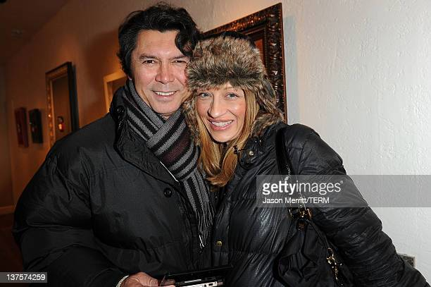 Actor Lou Diamond Phillips and wife Yvonne Boimier attend Day 3 of Nintendo 3DS Experience Lounge on January 22 2012 in Park City Utah