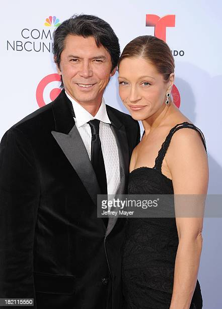 Actor Lou Diamond Phillips and wife Yvonne Boismier Phillips arrive at the 2013 NCLA ALMA Awards at Pasadena Civic Auditorium on September 27 2013 in...