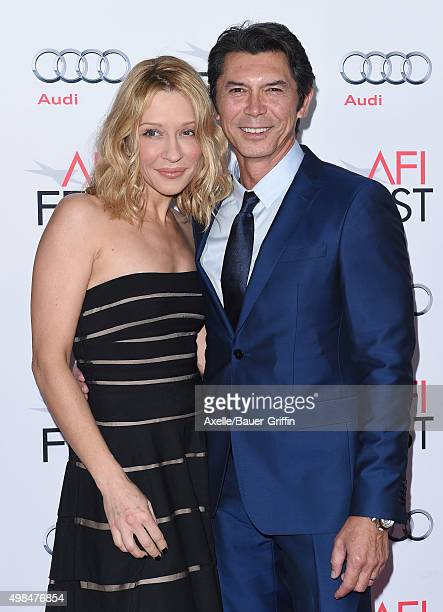 Actor Lou Diamond Phillips and wife Yvonne Boismier Phillips arrive at the AFI FEST 2015 Presented By Audi Centerpiece Gala Premiere of 'The 33' at...