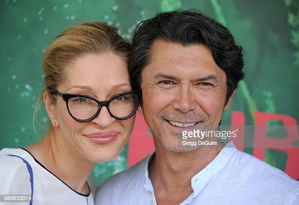 Actor Lou Diamond Phillips and wife Yvonne Boismier Phillips arrive at the premiere of Focus Features' Kubo And The Two Strings at AMC Universal City...