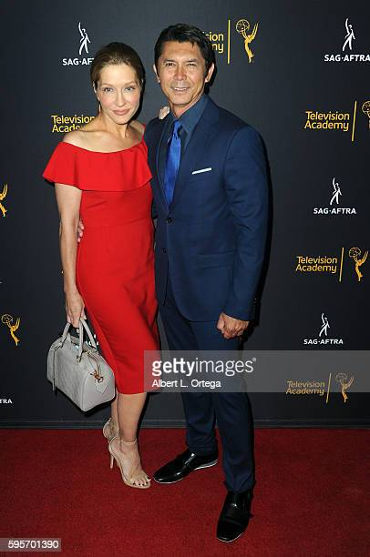 Actor Lou Diamond Phillips and wife Yvonne Boismier Phillips arrive for the Television Academy And SAGAFTRA's 4th Annual Dynamic And Diverse...