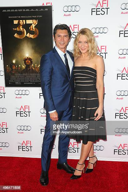 Actor Lou Diamond Phillips and wife Yvonne Boismier Phillips attend the Centerpiece Gala premiere of Alcon Entertainment's 'The 33' at TCL Chinese...
