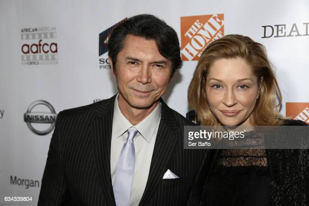 Actor Lou Diamond Phillips and wife Yvonne Boismier Phillips attend the 8th Annual AAFCA Awards at Taglyan Complex on February 8 2017 in Los Angeles...
