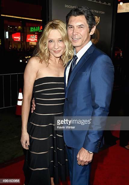 "Actor Lou Diamond Phillips and Yvonne Boismier Phillips attend the Centerpiece Gala Premiere of Alcon Entertainment's ""The 33"" during AFI FEST 2015..."