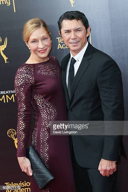 Actor Lou Diamond Phillips and Yvonne Boismier Phillips attend the 2016 Creative Arts Emmy Awards Day 2 at the Microsoft Theater on September 11 2016...