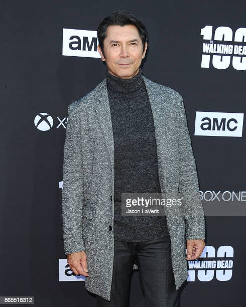 Actor Lou Diamond Phillips attends the 100th episode celebration off 'The Walking Dead' at The Greek Theatre on October 22 2017 in Los Angeles...