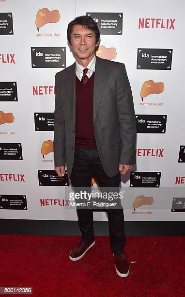 Actor Lou Diamond Phillips attends the 2015 IDA Documentary Awards at Paramount Studios on December 5 2015 in Hollywood California