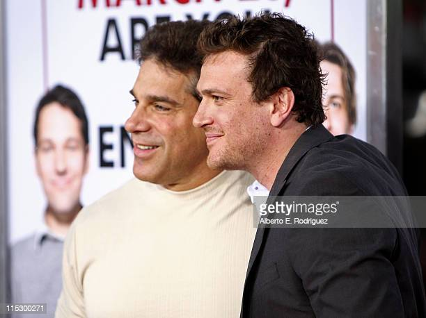 """Actor Lou Ferrigno and actor Jason Segel arrives at the premiere of """"I Love You, Man"""" held at the Mann's Village Theater on March 17, 2009 in..."""