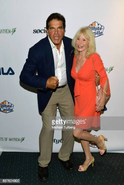 Actor Lou Ferrigno and Carla Ferrigno attend the Extraordinary Stan Lee tribute event at Saban Theatre on August 22 2017 in Beverly Hills California