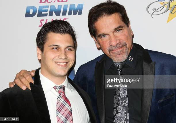 Actor Lou Ferrigno and his Son Brent Ferrigno attend the 27th annual 'Night Of 100 Stars' black tie dinner and viewing gala at The Beverly Hilton...