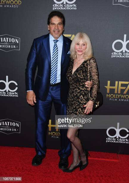 Actor Lou Ferrigno and his wife Carla arrive for the 22nd Annual Hollywood Film Awards at the Beverly Hilton hotel in Beverly Hills on November 4 2018