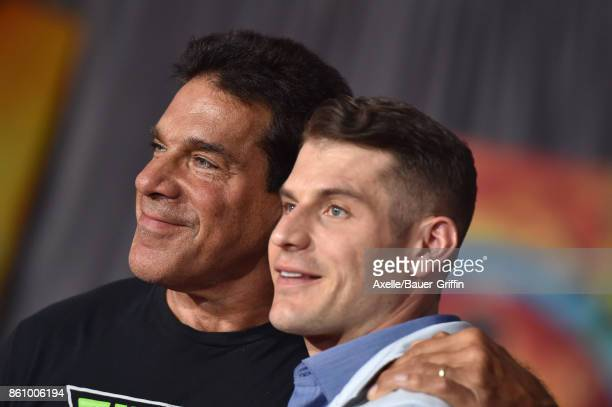 Actor Lou Ferrigno and son Lou Ferrigno Jr arrive at the premiere of Disney and Marvel's 'Thor Ragnarok' at the El Capitan Theatre on October 10 2017...