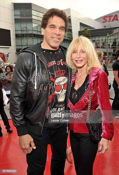 Actor Lou Ferrigno and wife Carla Ferrigno arrive at the Los Angeles premiere of This Is It at Nokia Theatre LA Live on October 27 2009 in Los...